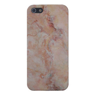Final de piedra de mármol estriado rosado iPhone 5 coberturas