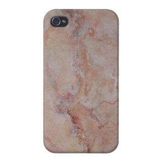 Final de piedra de mármol estriado rosado iPhone 4/4S carcasa