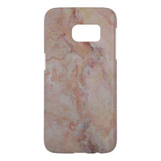 Final de piedra de mármol estriado rosado funda samsung galaxy s7