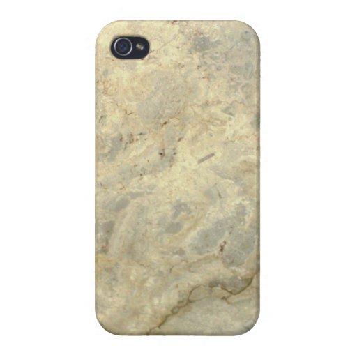 Final de piedra de mármol rayado oro rojizo iPhone 4 coberturas
