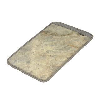 Final de piedra de mármol rayado oro rojizo funda macbook air