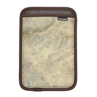 Final de piedra de mármol rayado oro rojizo fundas iPad mini