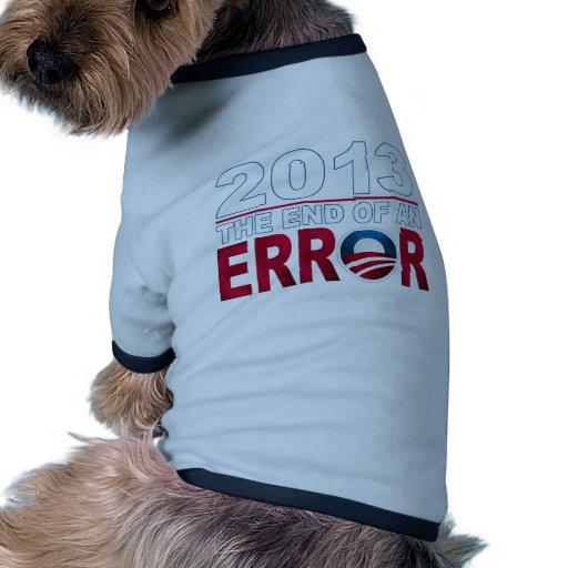 Final de un ERROR Camiseta Con Mangas Para Perro