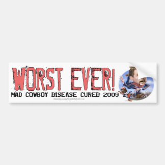 Final de un error: El peor nunca Pegatina Para Auto