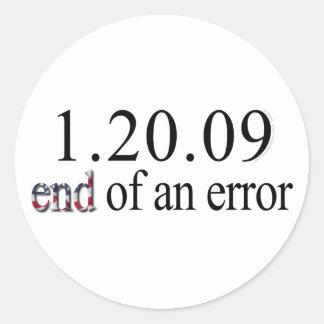 Final de un error - pegatinas etiquetas redondas