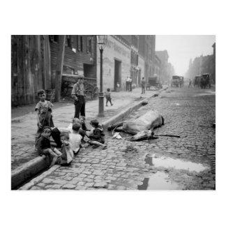 Final de una carrera, 1900s. tempranos postales