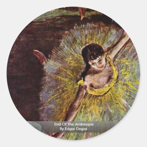 Final del Arabesque de Edgar Degas Pegatina Redonda