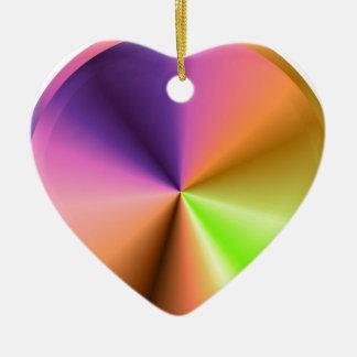 Final del metal de la chispa del resplandor: adorno de cerámica en forma de corazón