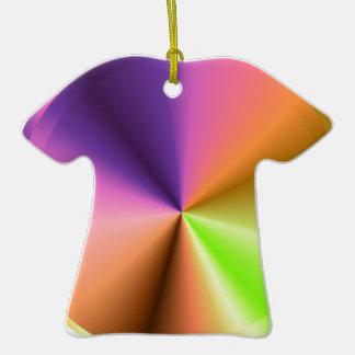Final del metal de la chispa del resplandor: adorno de cerámica en forma de camiseta