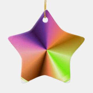 Final del metal de la chispa del resplandor: adorno de cerámica en forma de estrella