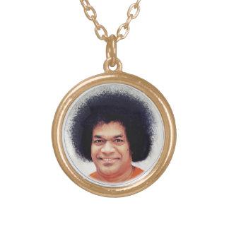 Final del oro de Sathya Sai Baba del collar