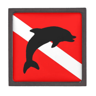 final Dive Flag Porpoise Jewelry Box