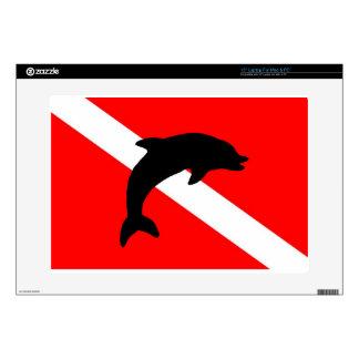 final Dive Flag Porpoise Laptop Decals