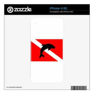 final Dive Flag Porpoise Skins For iPhone 4