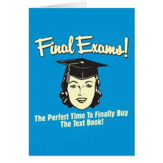Final Exams: Finally Buy the Text Book Card