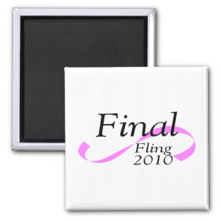 Final Fling 2010 2 Inch Square Magnet