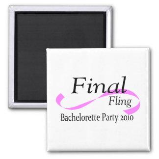 Final Fling Bachelorette Party 2010 2 Inch Square Magnet