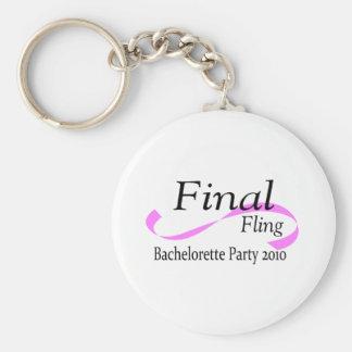 Final Fling Bachelorette Party 2010 Keychain
