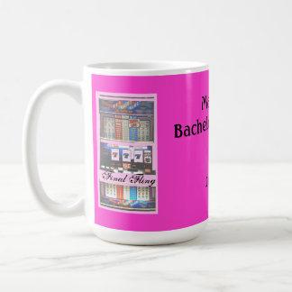Final Fling Bachelorette Party Casino Pink Coffee Mug