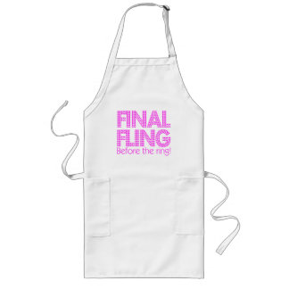 Final Fling Before The Ring! Long Apron
