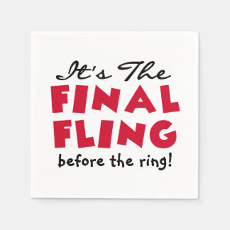Final Fling Before the Ring Paper Napkins