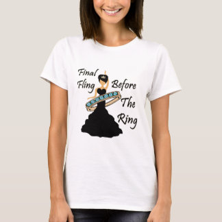 Final Fling Before The Ring White Background T-Shirt