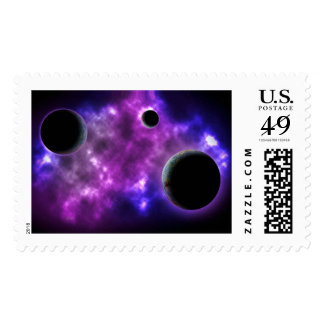 FINAL FRONTIERS - PLANETARY TRIO (outer space) ~ ~ Stamp