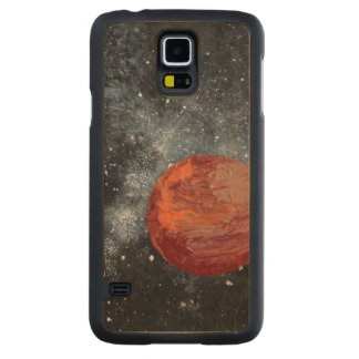 FINAL FRONTIERS (space design 2) ~ Carved® Maple Galaxy S5 Slim Case