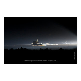 Final Landing of Space Shuttle Atlantis Print