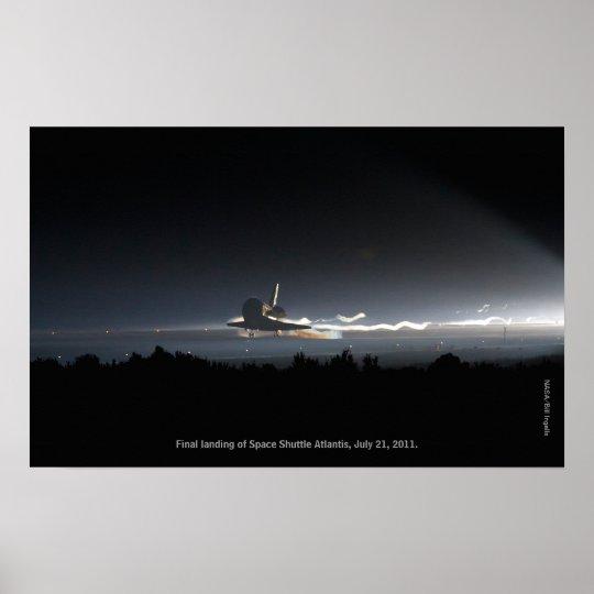 Final Landing of Space Shuttle Atlantis Print