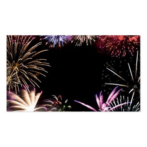 Final magnífico de los fuegos artificiales plantilla de tarjeta personal