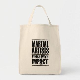 Final marcial de los artistas con impacto bolsas lienzo