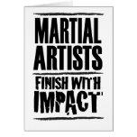 Final marcial de los artistas con impacto tarjeta de felicitación