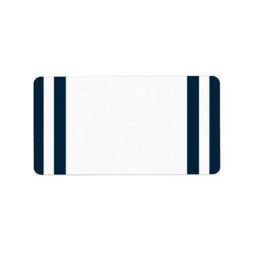 Beach Themed Final navy stripe Address label