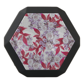'Final Party' - Epic Abstract Floral Nature Print Black Bluetooth Speaker