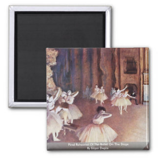 Final Rehearsal Of The Ballet On The Stage 2 Inch Square Magnet