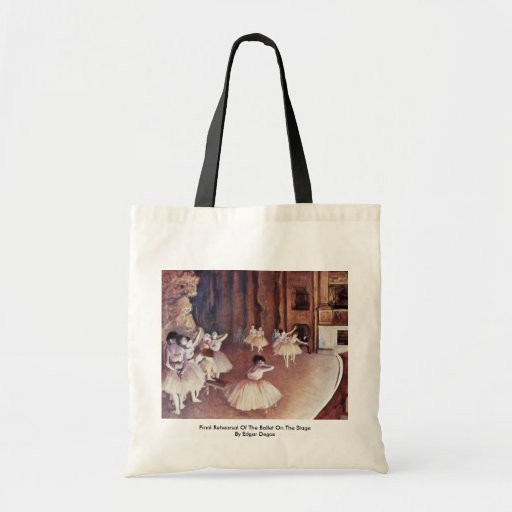 Final Rehearsal Of The Ballet On The Stage Canvas Bags