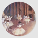 Final Rehearsal Of The Ballet On The Stage Sticker