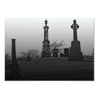 "Final resting place 3.5"" x 5"" invitation card"