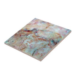 Final rosado de la piedra del mármol del arco iris azulejo cuadrado pequeño