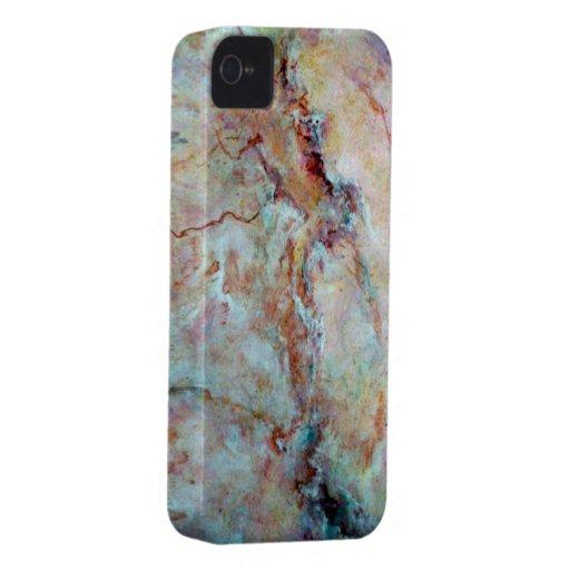 Final rosado de la piedra del mármol del arco iris carcasa para iPhone 4