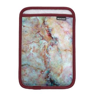 Final rosado de la piedra del mármol del arco iris fundas iPad mini