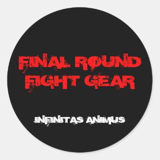 FINAL ROUND FIGHT GEAR, INFINITAS ...STICKER CLASSIC ROUND STICKER