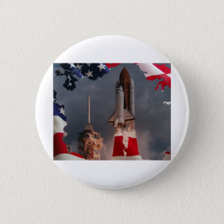 Final Shuttle Flight Pinback Button