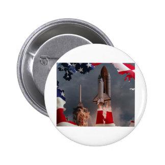 Final Shuttle Flight Pinback Button