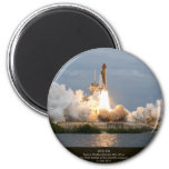 Final Space Shuttle launch STS-135 Atlantis 2 Inch Round Magnet