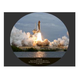 Final Space Shuttle launch STS-135 Atlantis Postcard