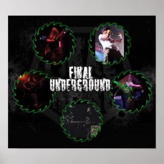Final Underground Saw Blade Band Poster