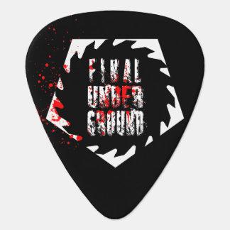 Final Underground Saw Blade Logo Guitar Pick
