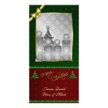 Final vertical Photocard del oro de las Felices Na Tarjeta Personal Con Foto